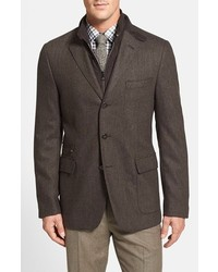 Corneliani Wool Cashmere Herringbone Sport Coat