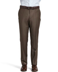 Dark Brown Wool Dress Pants
