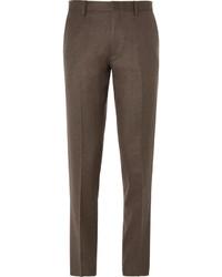 J.Crew Brown Ludlow Slim Fit Wool Suit Trousers