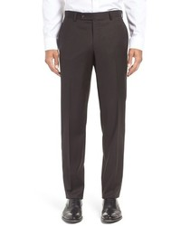 Ted Baker London Jefferson Trim Fit Solid Wool Trousers