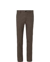 Bellerose Porths Slim Fit Puppytooth Cotton Blend Trousers