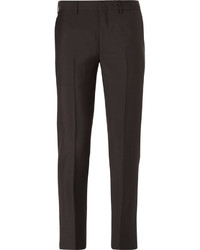 Prada Slim Fit Cropped Mohair And Wool Blend Trousers