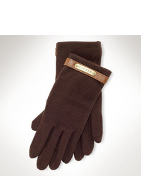 Dark Brown Wool Gloves