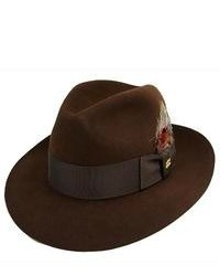 Dark Brown Wool Hat