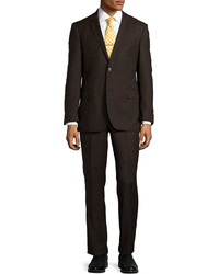 Dark Brown Wool Suit