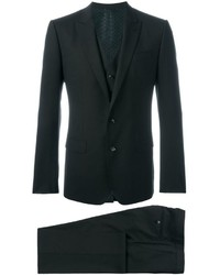 Dark Brown Wool Three Piece Suit