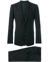 Dark Brown Wool Three Piece Suit