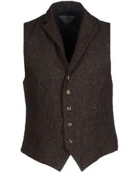 Dark Brown Wool Waistcoat
