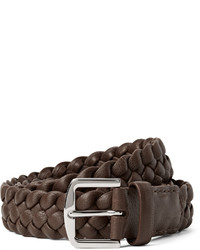 35cm brown woven leather belt medium 397721