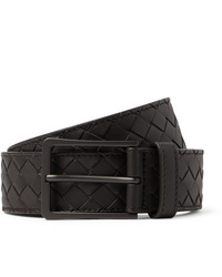 Bottega Veneta 35cm Dark Brown Intrecciato Leather Belt