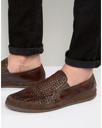 Base London Stage Woven Leather Shoes