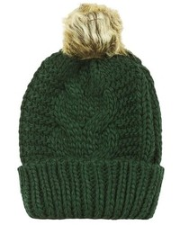 Topshop Faux Fur Cable Beanie