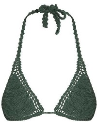 Dark Green Bikini Top