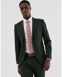 Selected Homme Dark Green Suit Jacket In Slim Fit