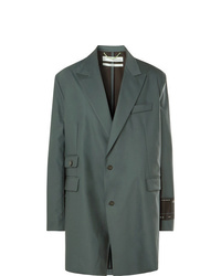 Off-White Grey Green Oversized Virgin Wool Blend Suit Jacket