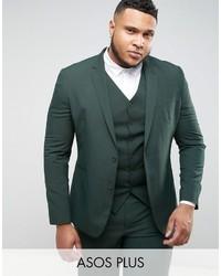 Plus slim suit jacket in green medium 3734619