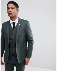 ASOS DESIGN Skinny Suit Jacket In Forest Green