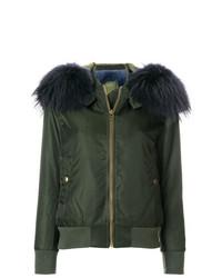 Mr & Mrs Italy Detachable Hood Bomber Jacket