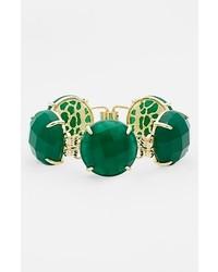 Kendra Scott Cassie Stone Line Bracelet Green Onyx Gold
