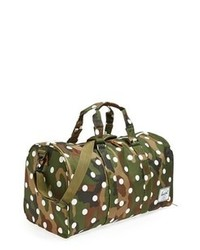 Dark Green Camouflage Canvas Duffle Bag