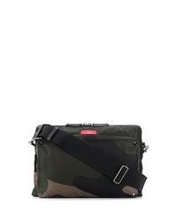 Dark Green Camouflage Canvas Messenger Bag