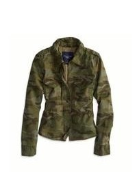 Dark Green Camouflage Military Jacket