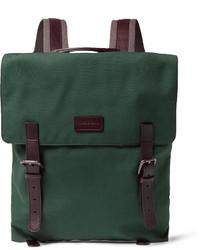 Dark Green Canvas Backpack
