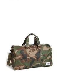Dark Green Canvas Duffle Bag