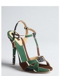 5790ef0de How to Wear Dark Green Canvas Heeled Sandals (1 looks & outfits ...