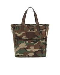 Dark Green Canvas Tote Bag