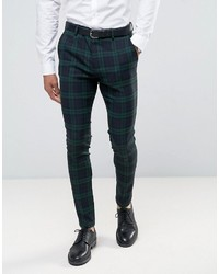 Super skinny suit pants in large blackwatch check medium 3726774
