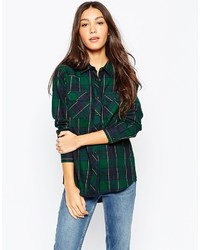 Brave soul checked shirt with front pockets medium 344916
