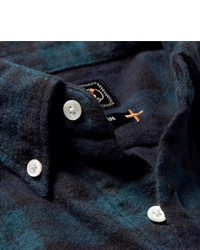 Beams Plus Shaggy Button Down Collar Checked Brushed Cotton