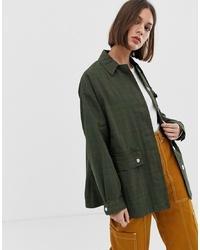 ASOS DESIGN Washed Check Jacket