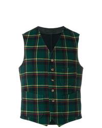 Fortela Plaid Patch Pocket Vest