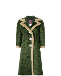 John Galliano Vintage Abstract Pattern Midi Coat
