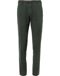 Boglioli Green Slim Fit Stretch Cotton Corduroy Suit Trousers