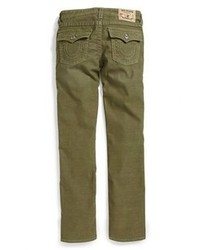 True Religion Brand Jeans Jack Straight Leg Corduroy Jeans Surplus Green 12