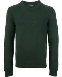 Dark Green Crew-neck Sweater