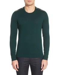 Burberry Brit Jarvis Check Print Shoulder Detail Cashmere Cotton Sweater
