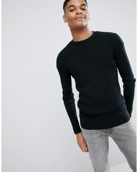 New Look Ribbed Dark Green Jumper