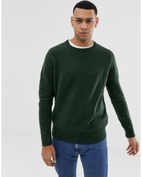 J.Crew Mercantile Wool Nylon Jumper In Dark Green