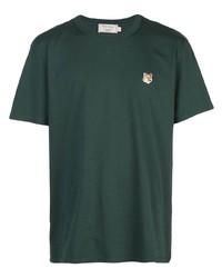 MAISON KITSUNÉ Embroidered Fox Logo T Shirt