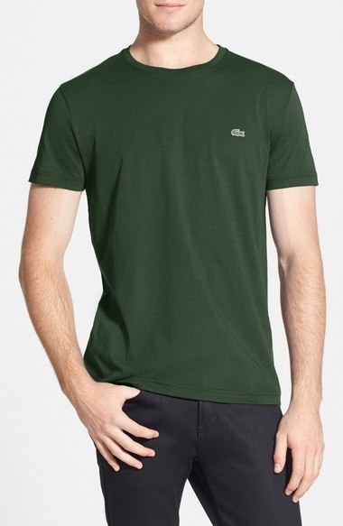 e52a9ff26db2f ... Lacoste Pima Cotton Crewneck T Shirt ...