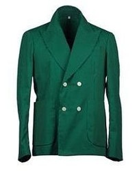 Dark Green Double Breasted Blazer