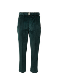 Officine Generale Dark Green Owen Tapered Cotton Corduroy Suit Trousers