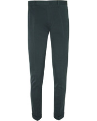 Paul Smith Green Slim Fit Cotton And Silk Blend Suit Trousers