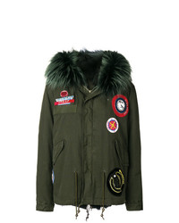 Mr & Mrs Italy Parka Coat With Patch Appliqus