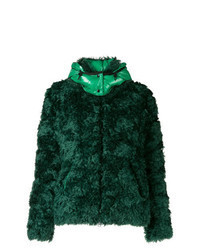 Dark Green Fur Jacket