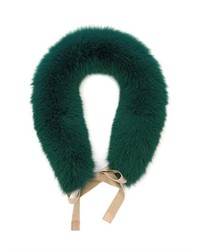 Dark Green Fur Scarf